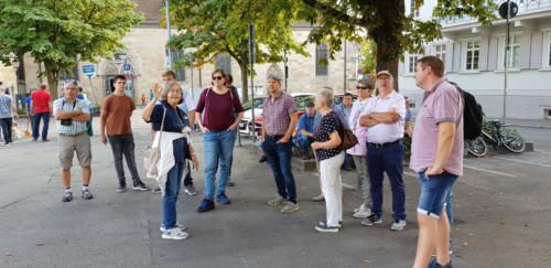 Bei der Stadtführung in Esslingen